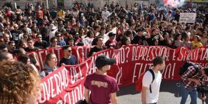 Italy Student Protest