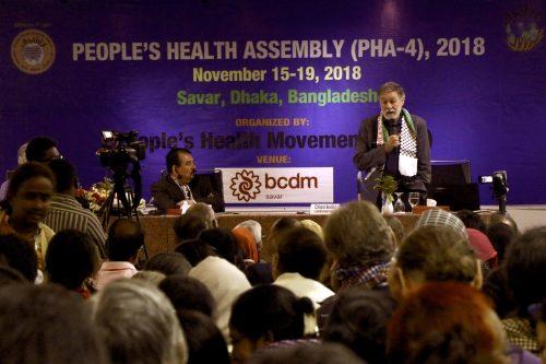David Sanders speaks at opening of PHA 4