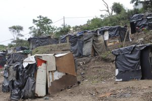 Shacks in eKhenana, a new land occupation in Cato Crest in Durban.