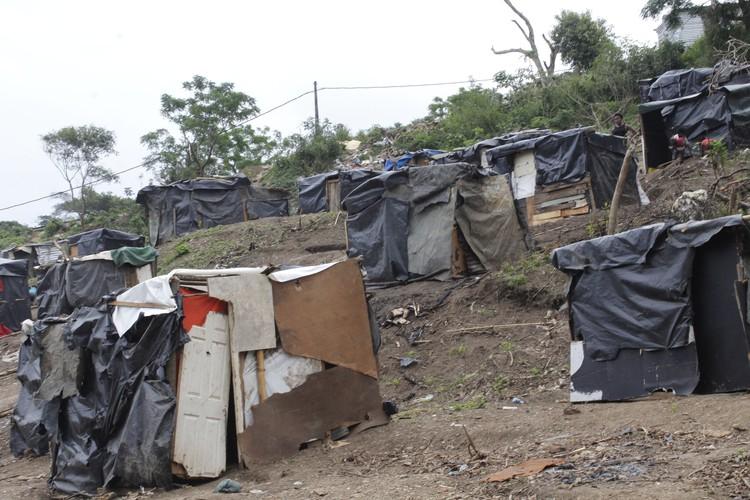 Shacks in eKhenana, a new land occupation in Cato Crest in Durban.