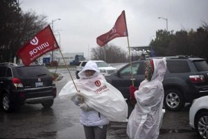 GM WORKERS PROTEST