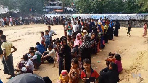 Rohingya refugees in refugee camp