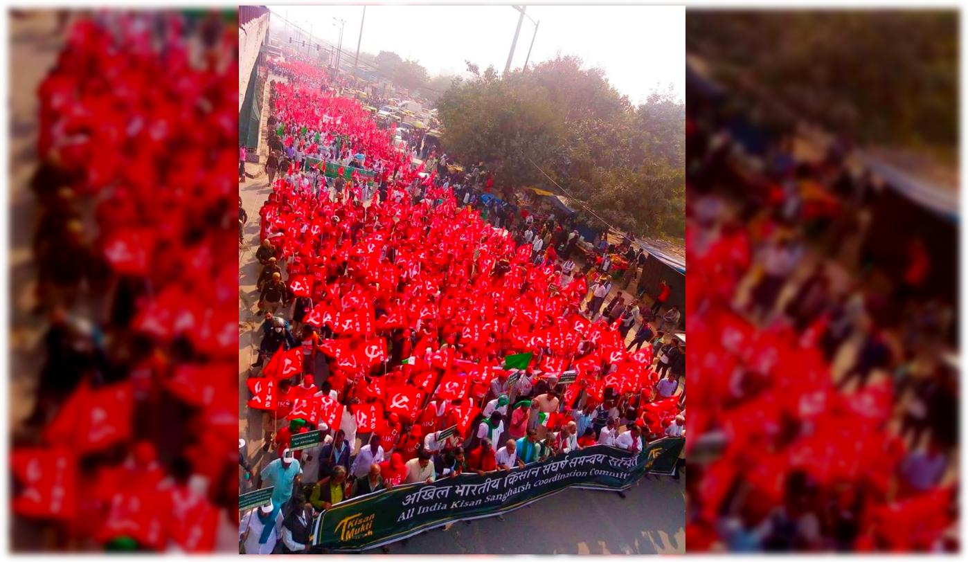 Farmers march delhi