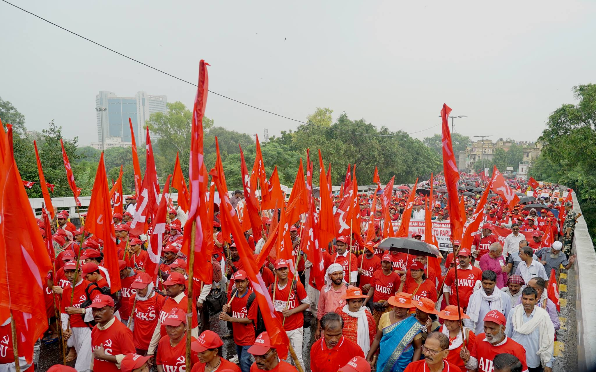 Farmers march in New Delhi 2018