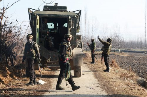 Government forces near the encounter site