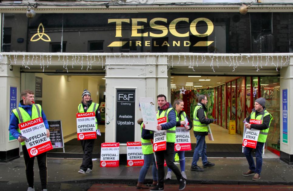 Tesco workers strike