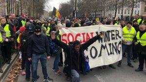 Workers strike in Belgium