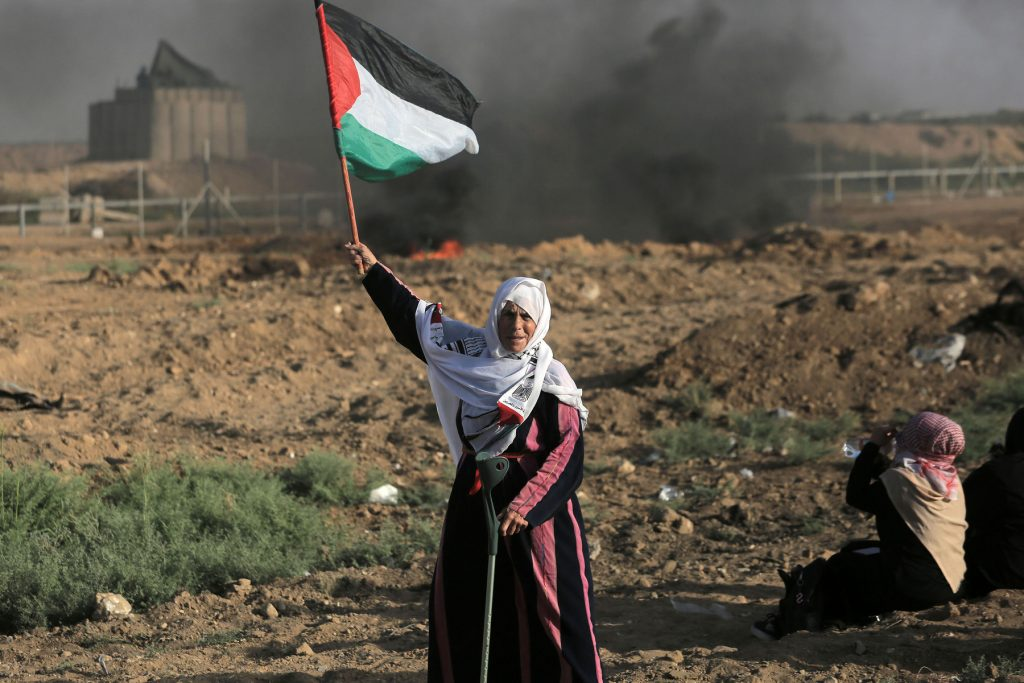 Women's march, Gaza fence protest, Gaza Strip,