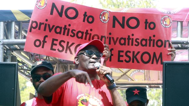 NUMSA and NUM have joined hands to resist the government's move to privatize Eskom.