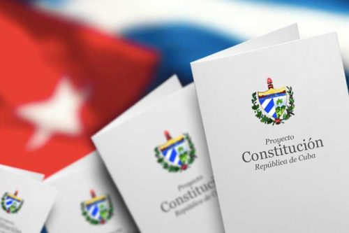 Draft copy of new Cuban constitition