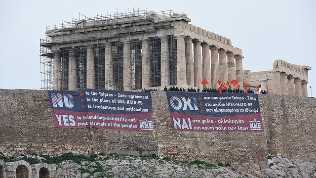Protests against Prespes Agreement in Greece