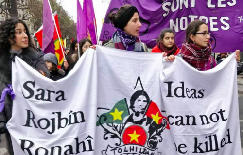 15,000 take to the streets in Paris in memory of murdered Kurdish activists