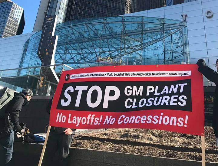 American autoworkers protest GM's plant closures and retrenchments