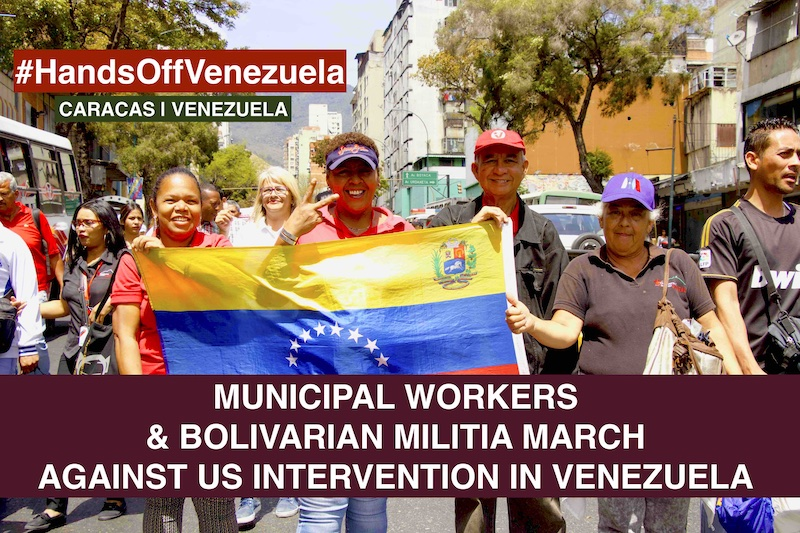 Municipal Workers March Venezuela