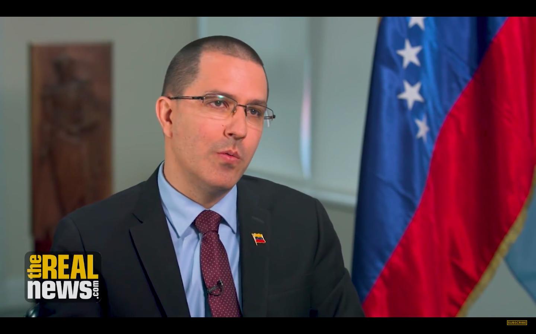 Venezuela's Foreign Minister Jorge Arreaza