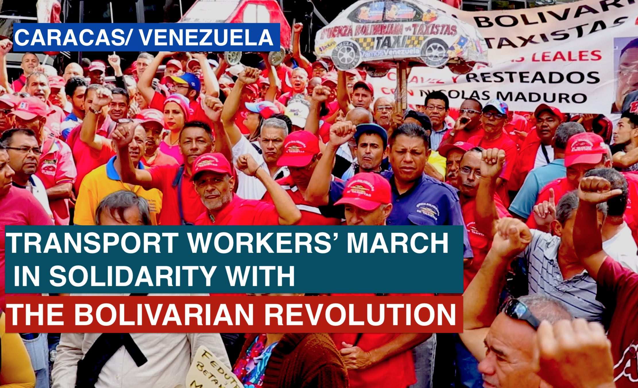 Transport worker's march in Caracas