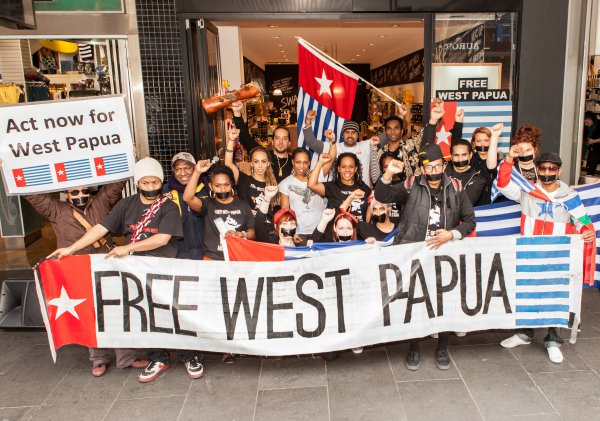 Protest in support for West Papua movement