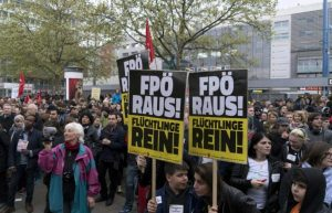 Protest against the Freedom Party of Austria