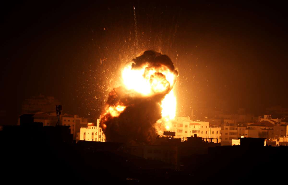 Israeli bombing on Gaza