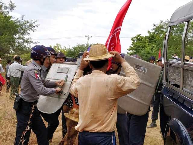 Myanmar hotel workers strike