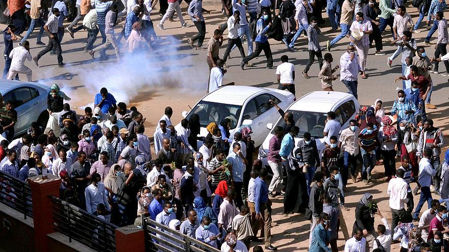 Protest against Sudanese president Omar al-Bashir