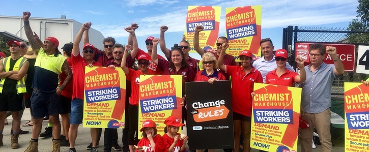 Chemist Warehouse NUW strike