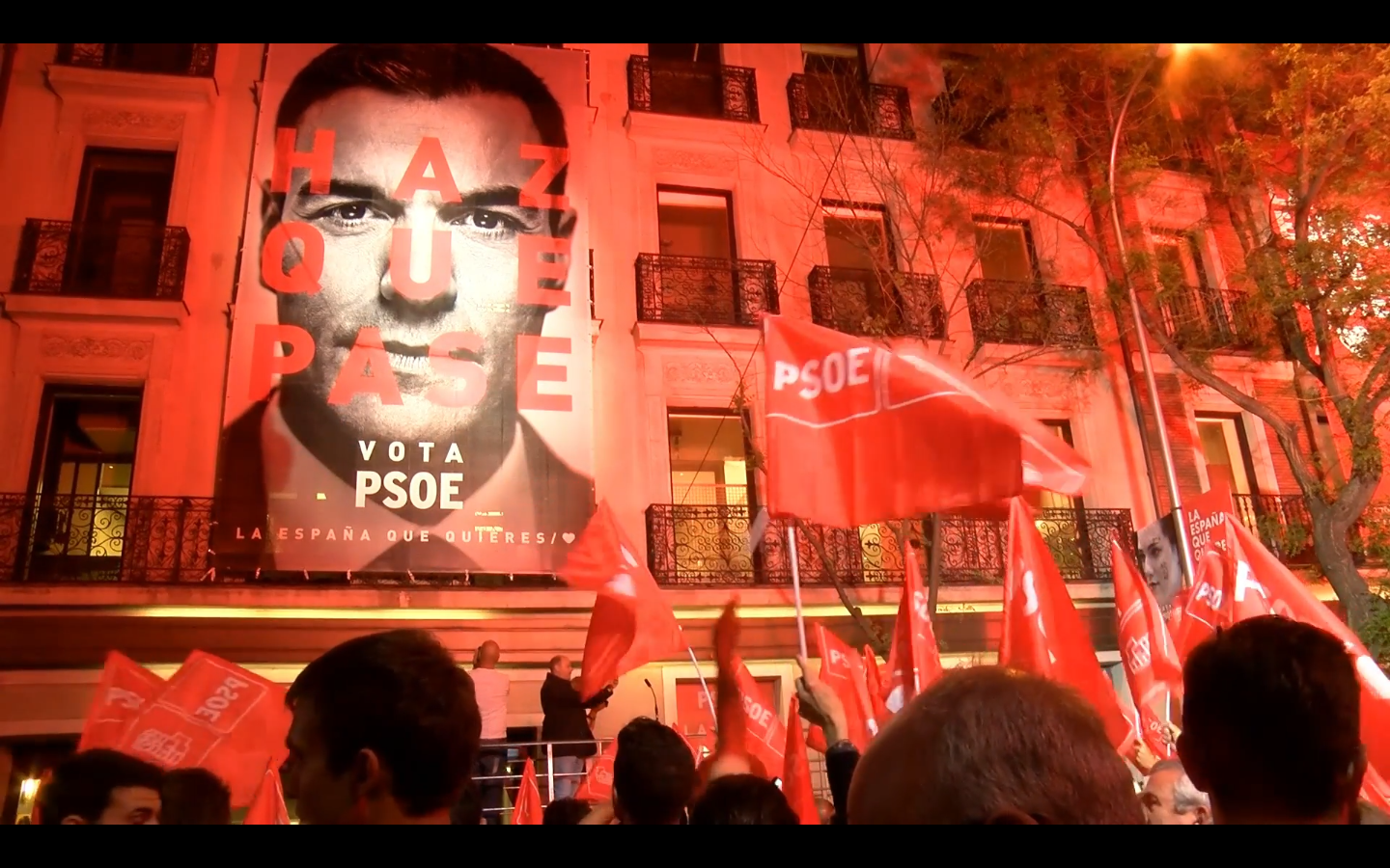 PSOE victory rally
