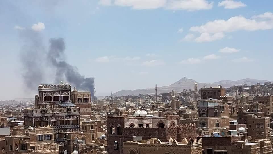 Saudi airstrike in Sanaa