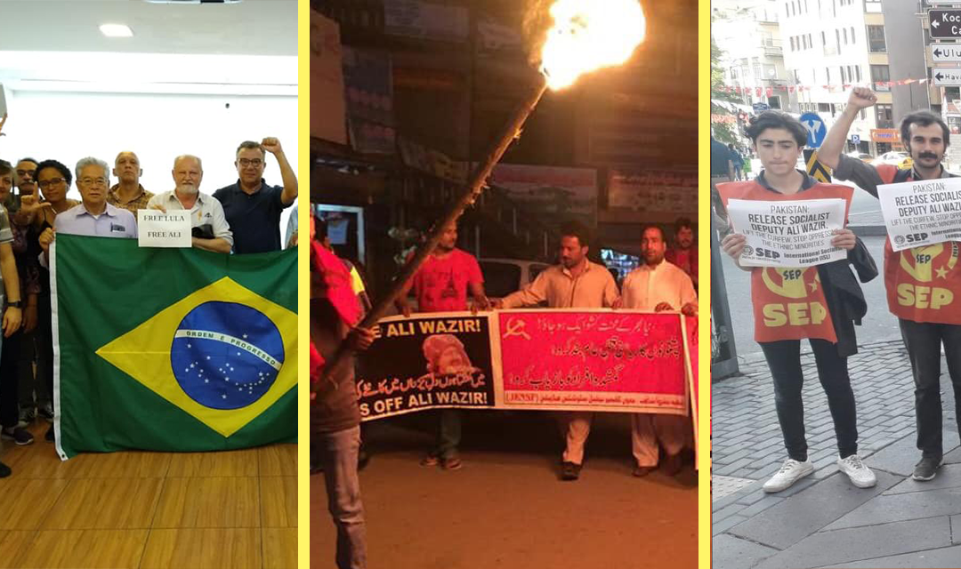 Protests in Brazil, Paksistan and Turkey calling for Ali Wazir's release.