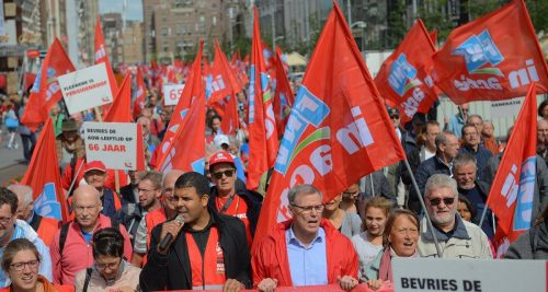 Dutch trade union protests