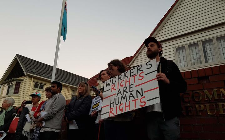 Fiji workers' protest