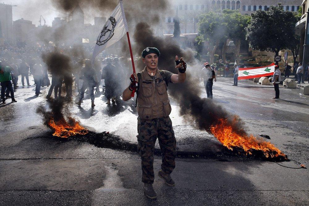 Lebanon veterans protest