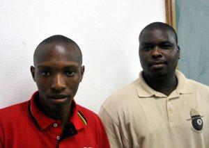 Maxwell Dlamini and Musa Ngubeni