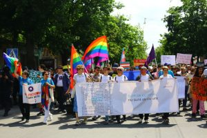 Moldova pride march.