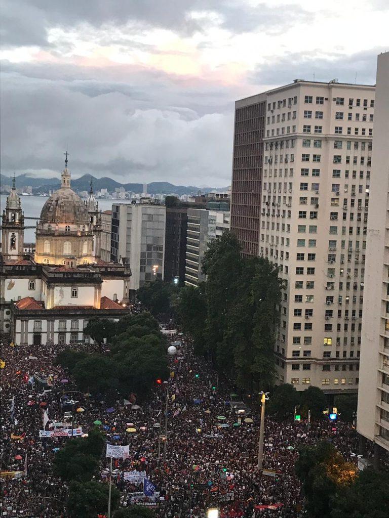Protest in defense of education in Brazil 1