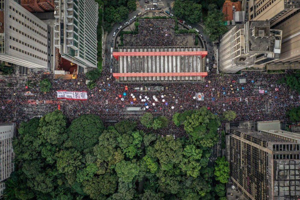 Protest in defense of education in Brazil 2