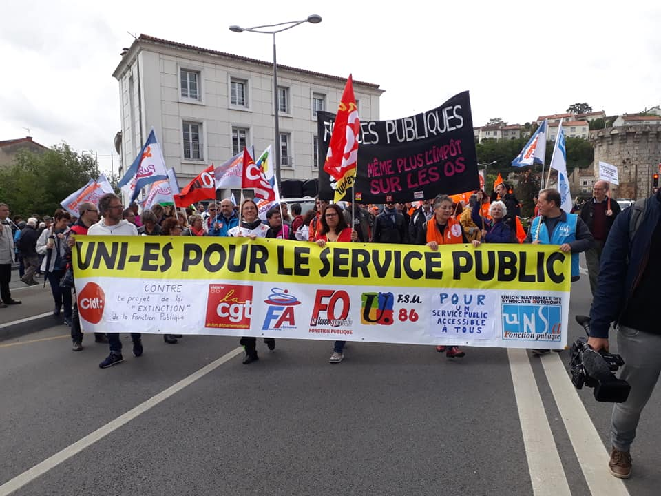French trade union protests