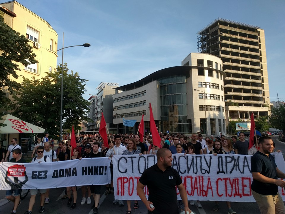 Serbia anti-eviction protests