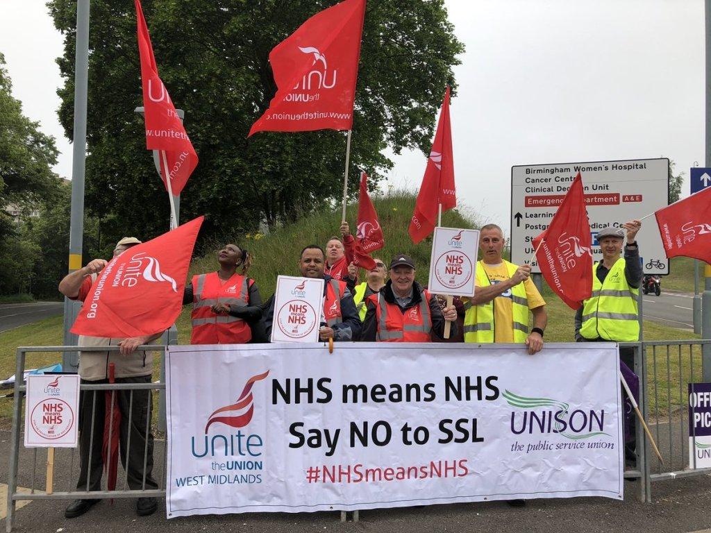 NHS strike -Birmingham