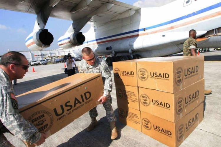"The February 23 ""aid"" operation involved food supplies from the US government agency USAID"