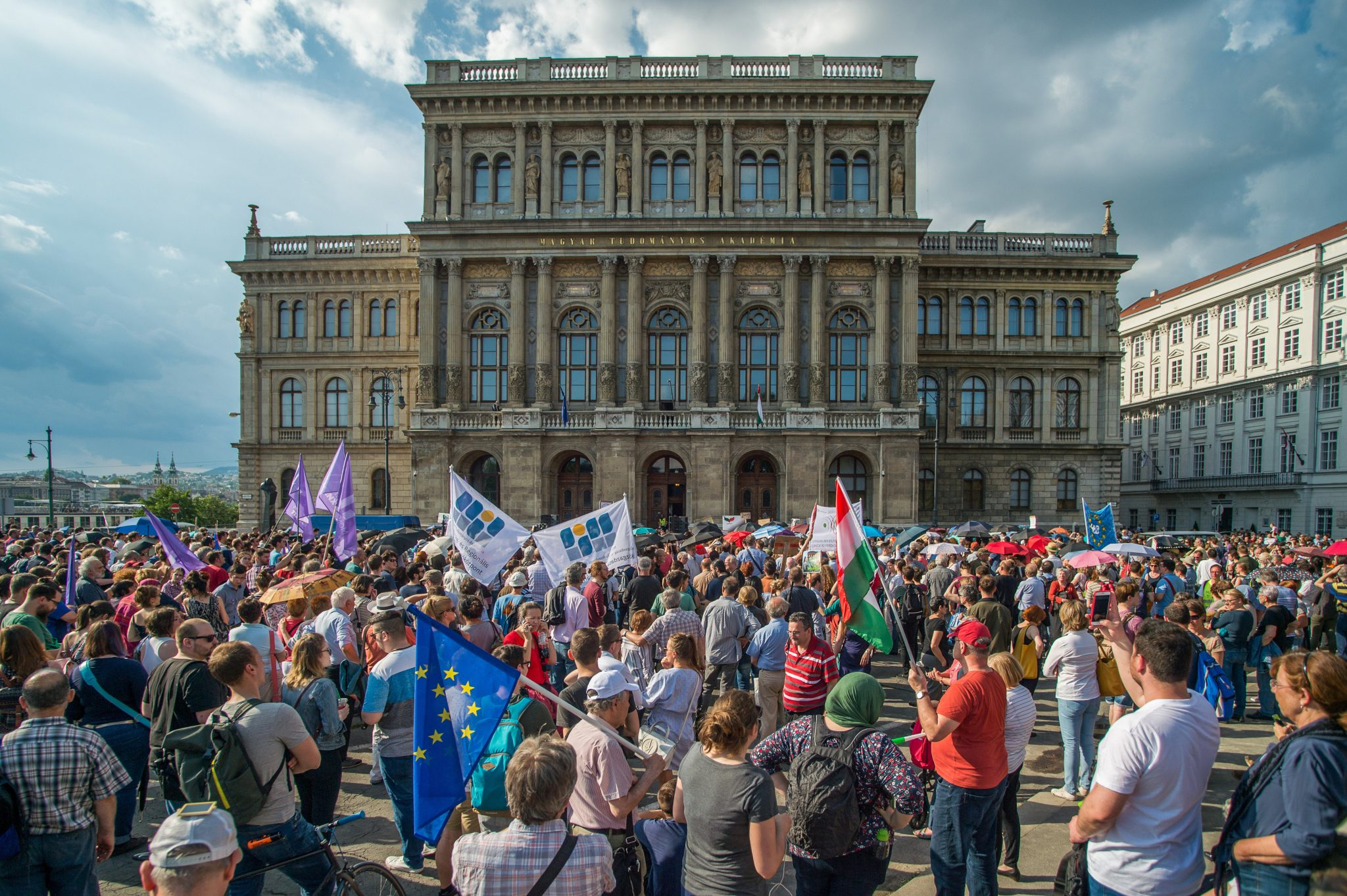 researchers' protest Hungary