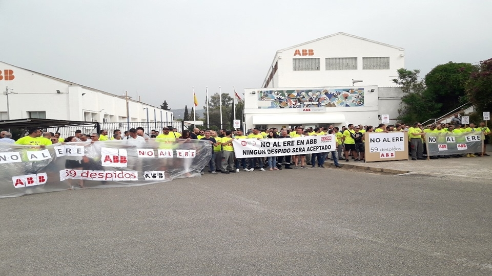 Power grid workers protest planned layoffs in Spain