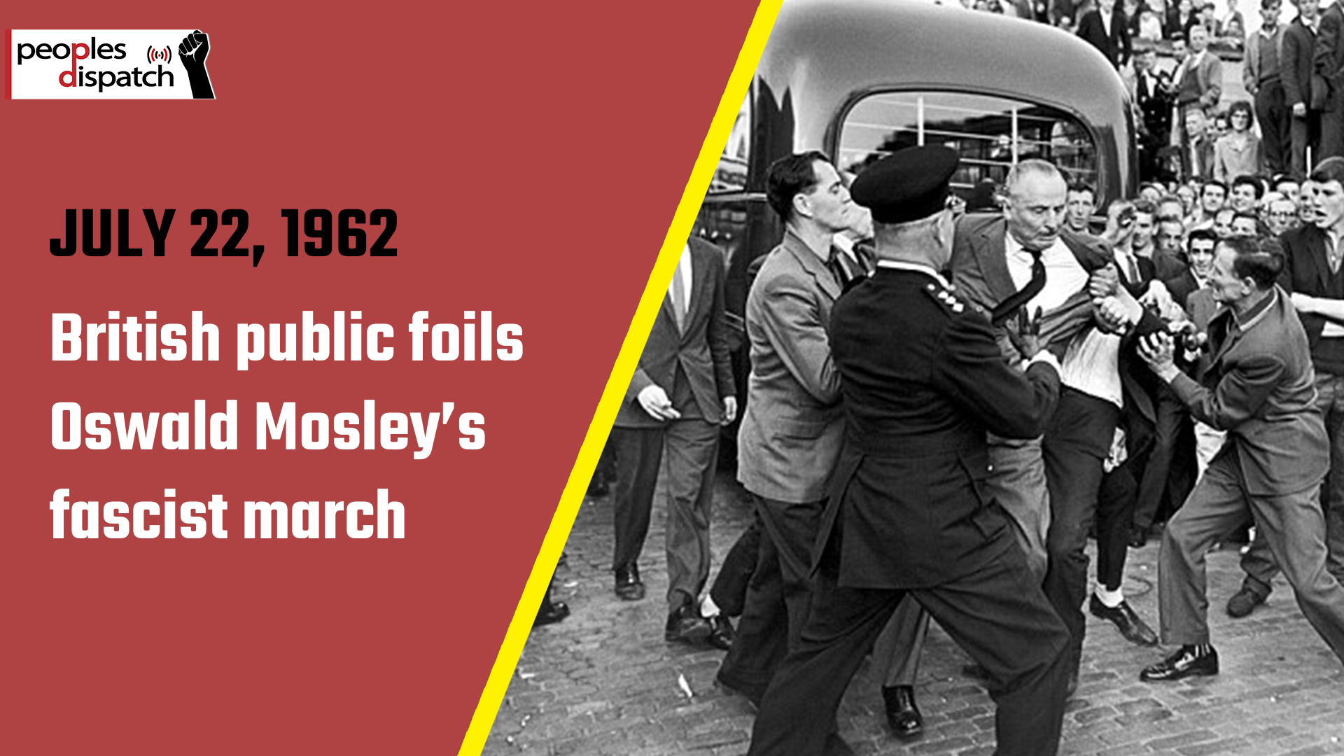 British public foils Oswald Mosley's fascist march
