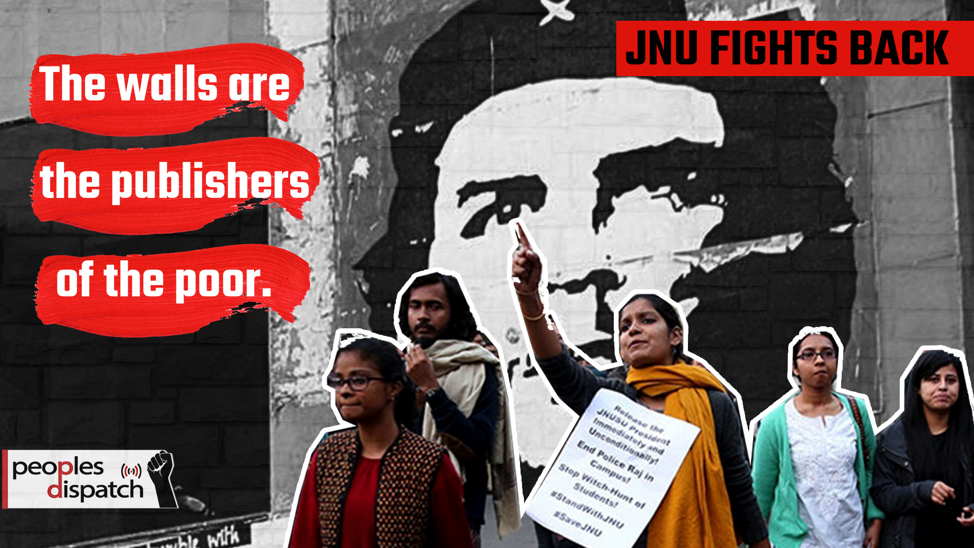 The Walls are publishers of the poor_JNU wall posters