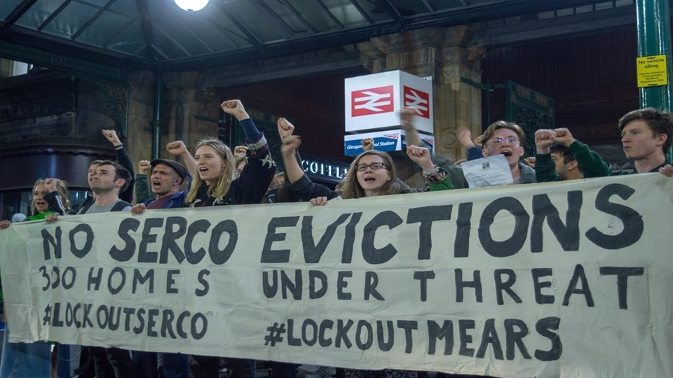 Housing rights activists continue protests against Serco