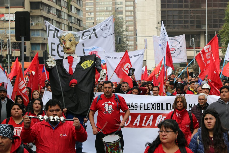 Chile protests against labor reforms