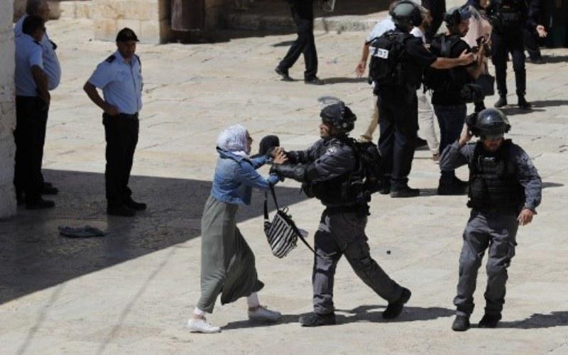 palestine al aqsa scuffle
