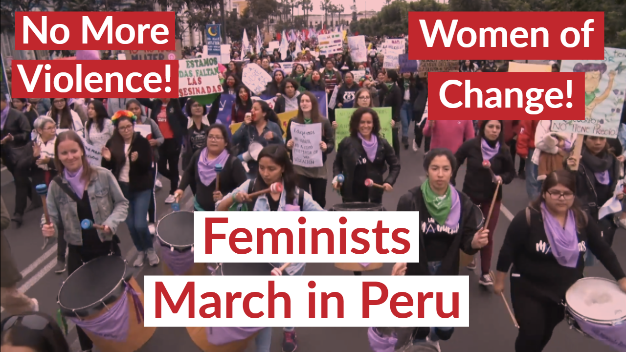At least 1,200 disappearances reported across Latin American country since the start of coronavirus pandemic in March. Peru-feminists-march