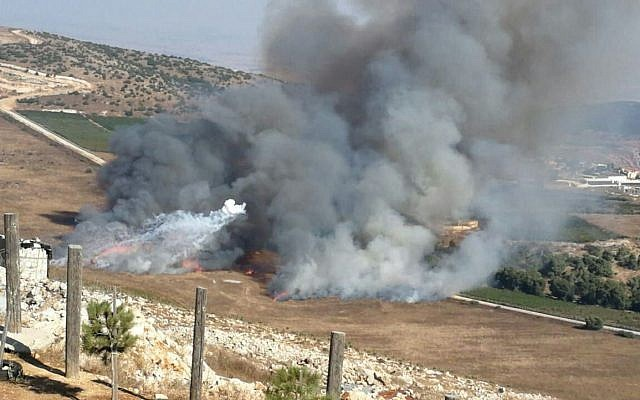 Hezbollah and Israel exchange fire at border