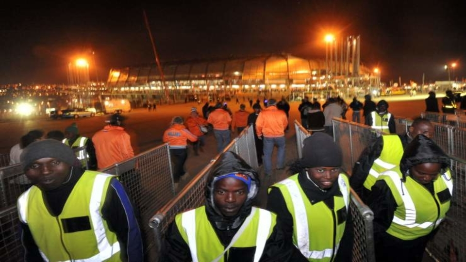 South Africa security guards strike
